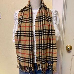 burberry classic plaid cashmere scarf